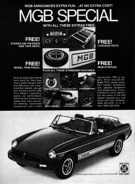 1977 Special advert