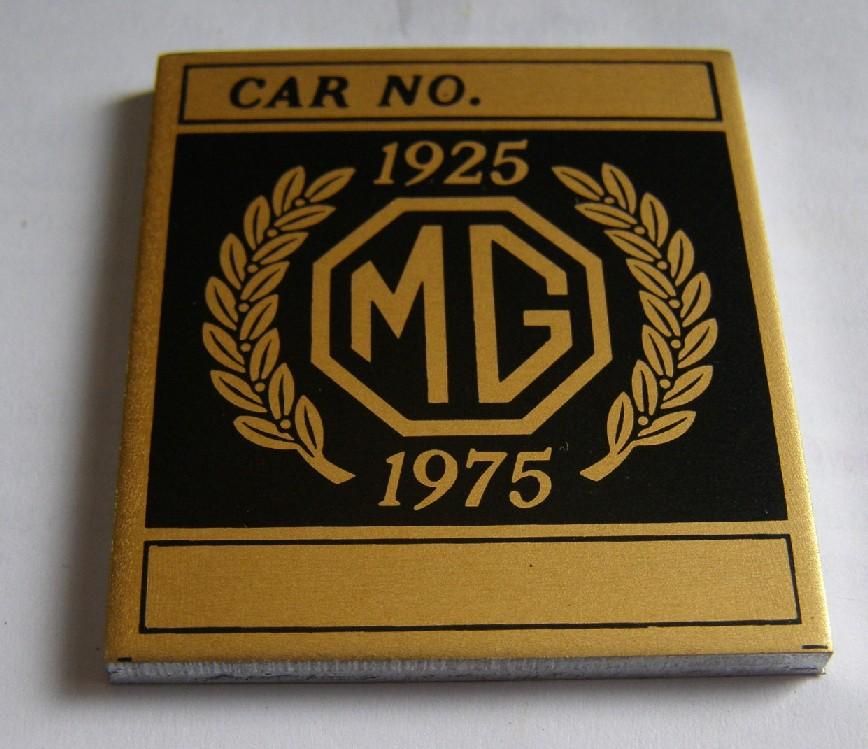 Repro (eBay) plaque