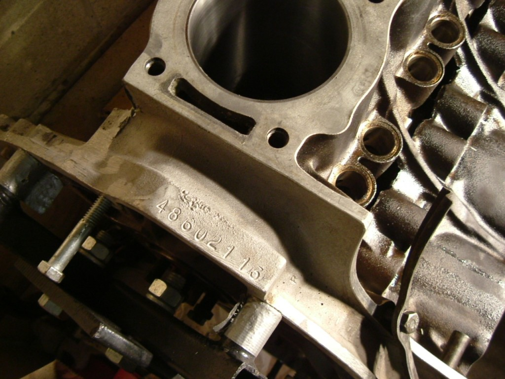 Factory GTV8 Engine Number  Location