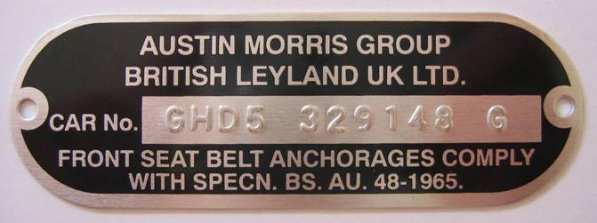 New Stamped Chassis Plate